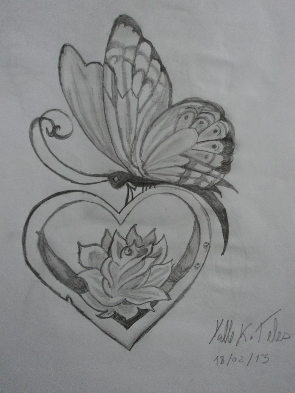 butterfly heart flower by yalle23 on DeviantArt