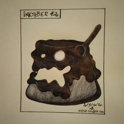 Inktober 2019 #20 - Pudding Monster