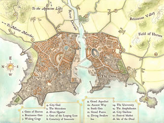 Fantasy renaissance city map by LingonB