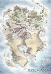 Kolmara, fantasy map