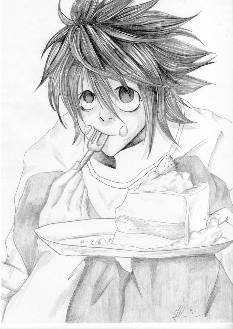L Cake pencil by kayfullcolor