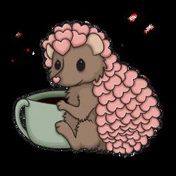 Perk the Coffee Loving Hedgie