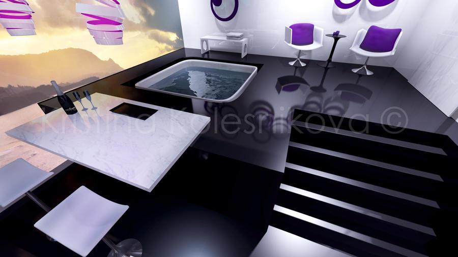 Raspberry Dream Room 2 By Barefootink On Deviantart
