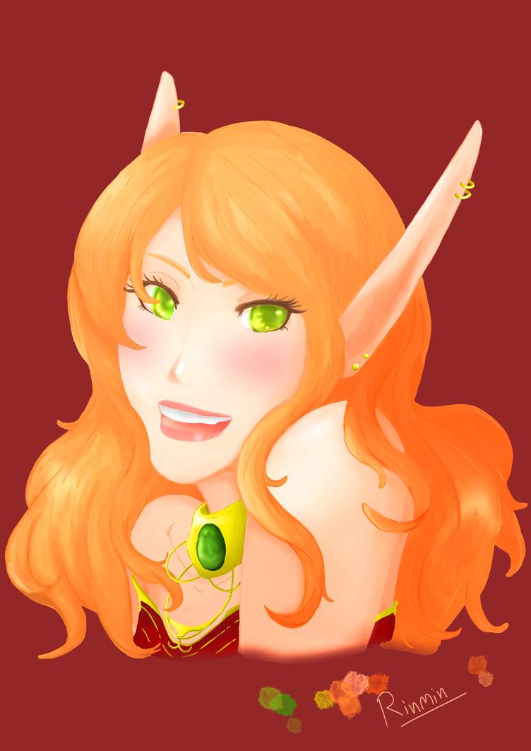 Fan art : Wow Blood elf girl by Silverrosary