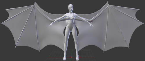 Dragon Wing Girl by InsaneXade