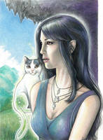 Syn and the Magic Cat by LauraPex