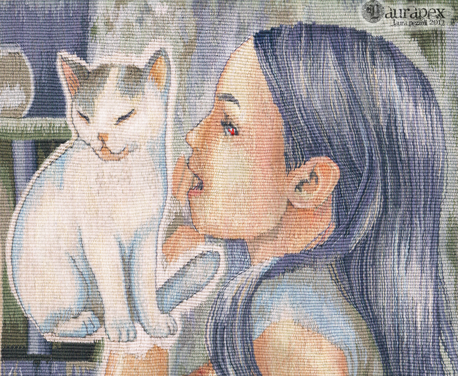 The Child and the Magic Cat - tapestry by LauraPex