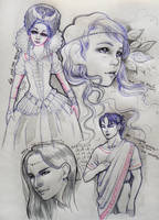 Sketchy page - 1 by LauraPex
