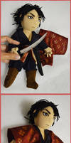 Bday gift for Shisleya - handmade doll of Aki by LauraPex