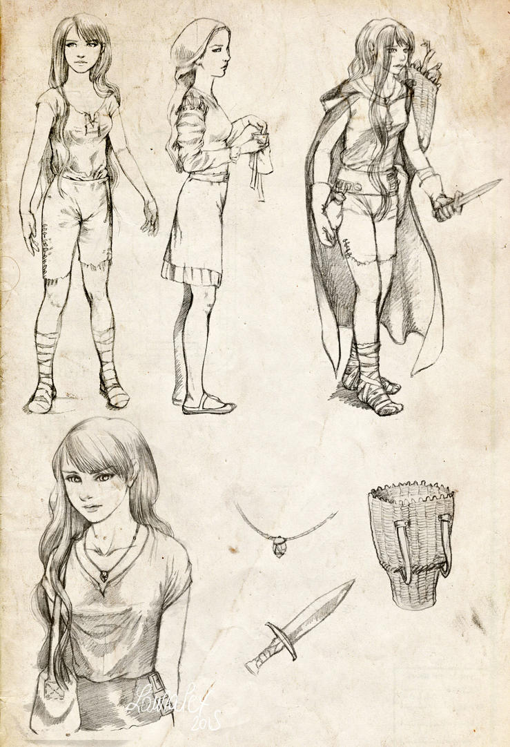 Syn - sketchy clothes and objects by LauraPex