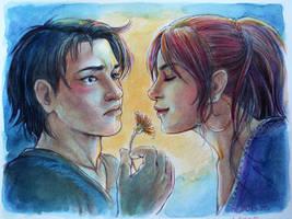 Aki and Dejanira - commission for Shisleya by LauraPex