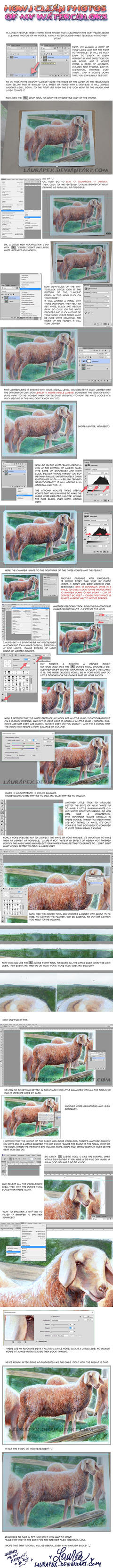 Tutorial: How to clean traditional art photos! by LauraPex