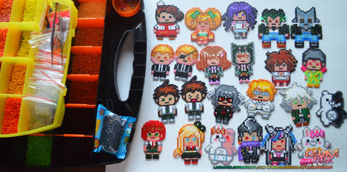 Danganronpa 2 - hama beads pixel characters by LauraPex
