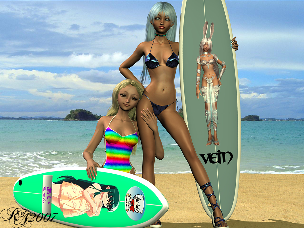 Surfer Girls by RayOfAmbience
