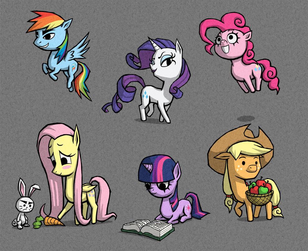 WW ponies by AWildDrawfagAppears