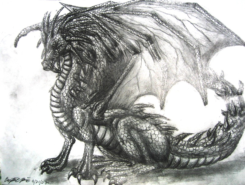 Dragon drawing by dragontu84 on deviantart for Cool detailed drawings