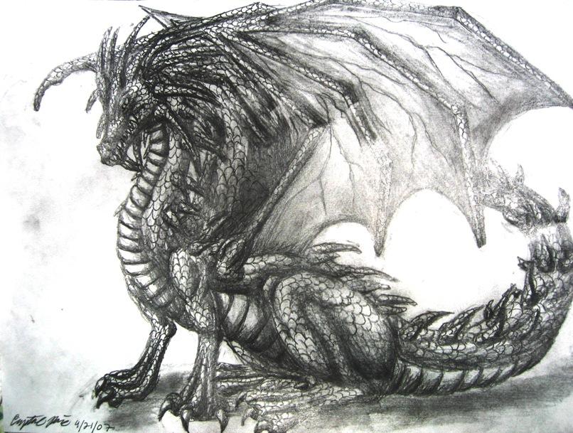 Dragon Drawing by DragonTU84 on DeviantArt