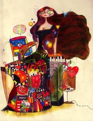 Girl in color by HaithamTwin