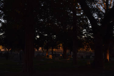 Cemetery at Sunset... by BlackCometCometh