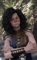Rita the warlock by BlackCometCometh