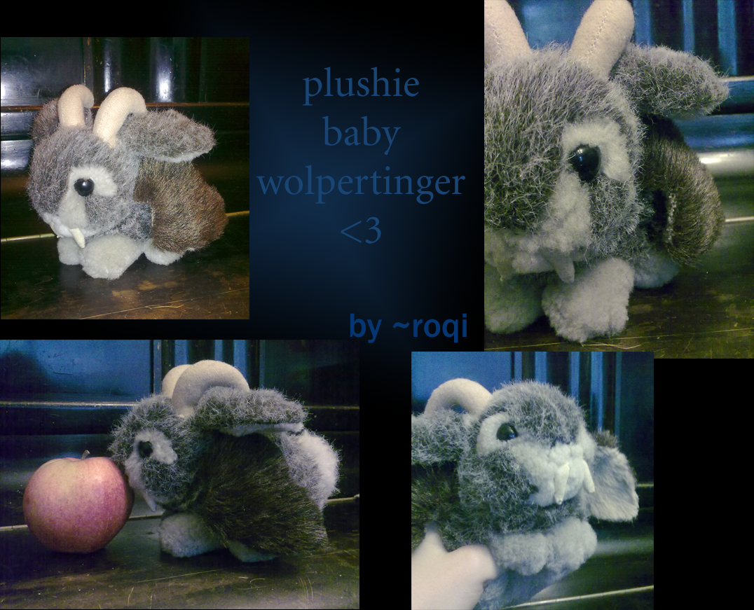 plushie baby wolpertinger by roqi on deviantart