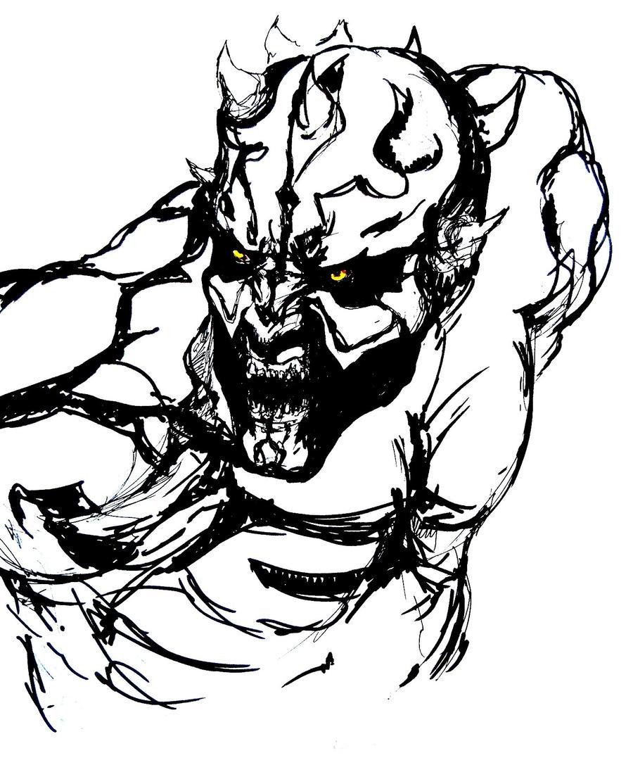 Darth Maul sketch by dead01 on DeviantArt