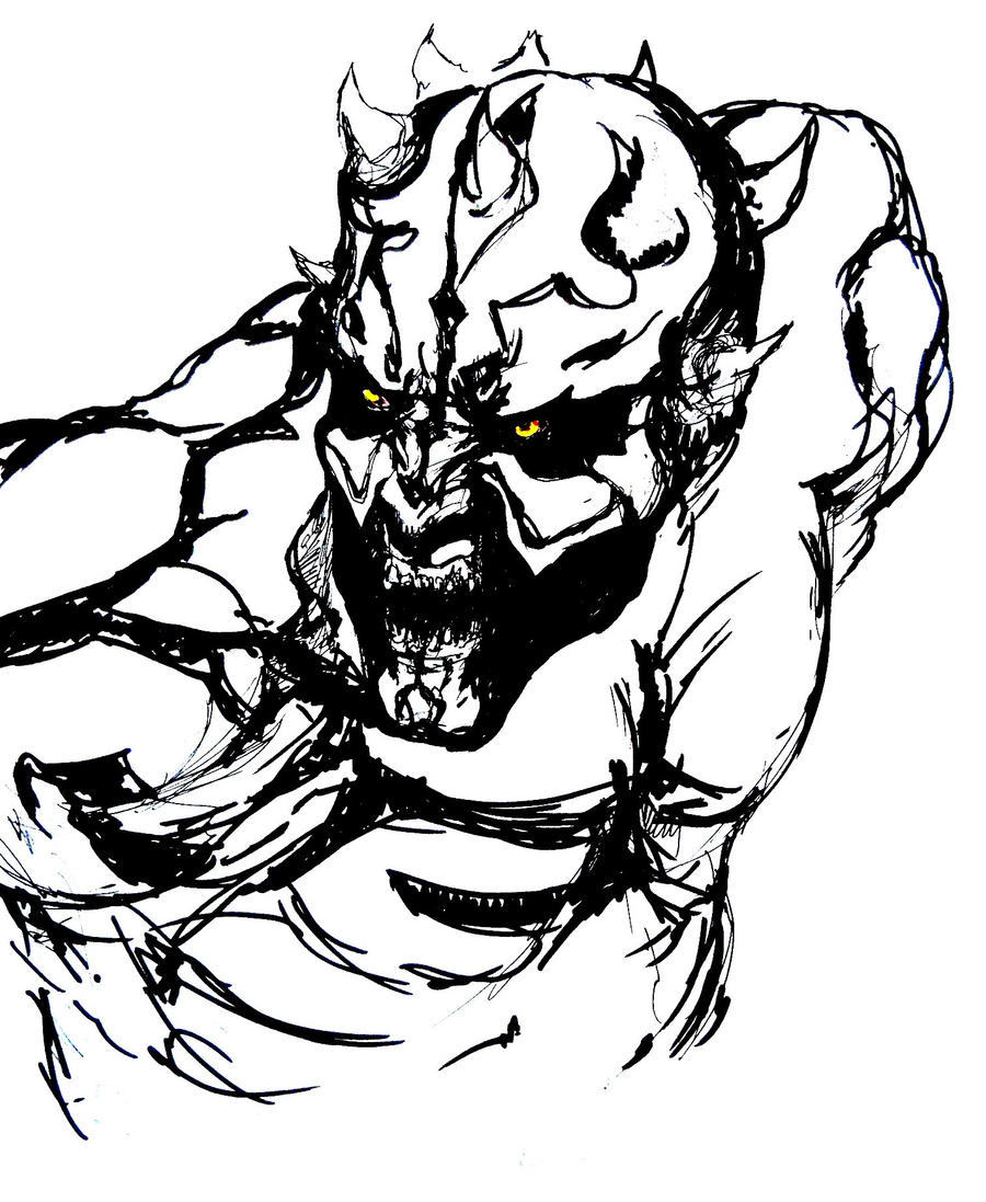 Darth Maul sketch by dead01