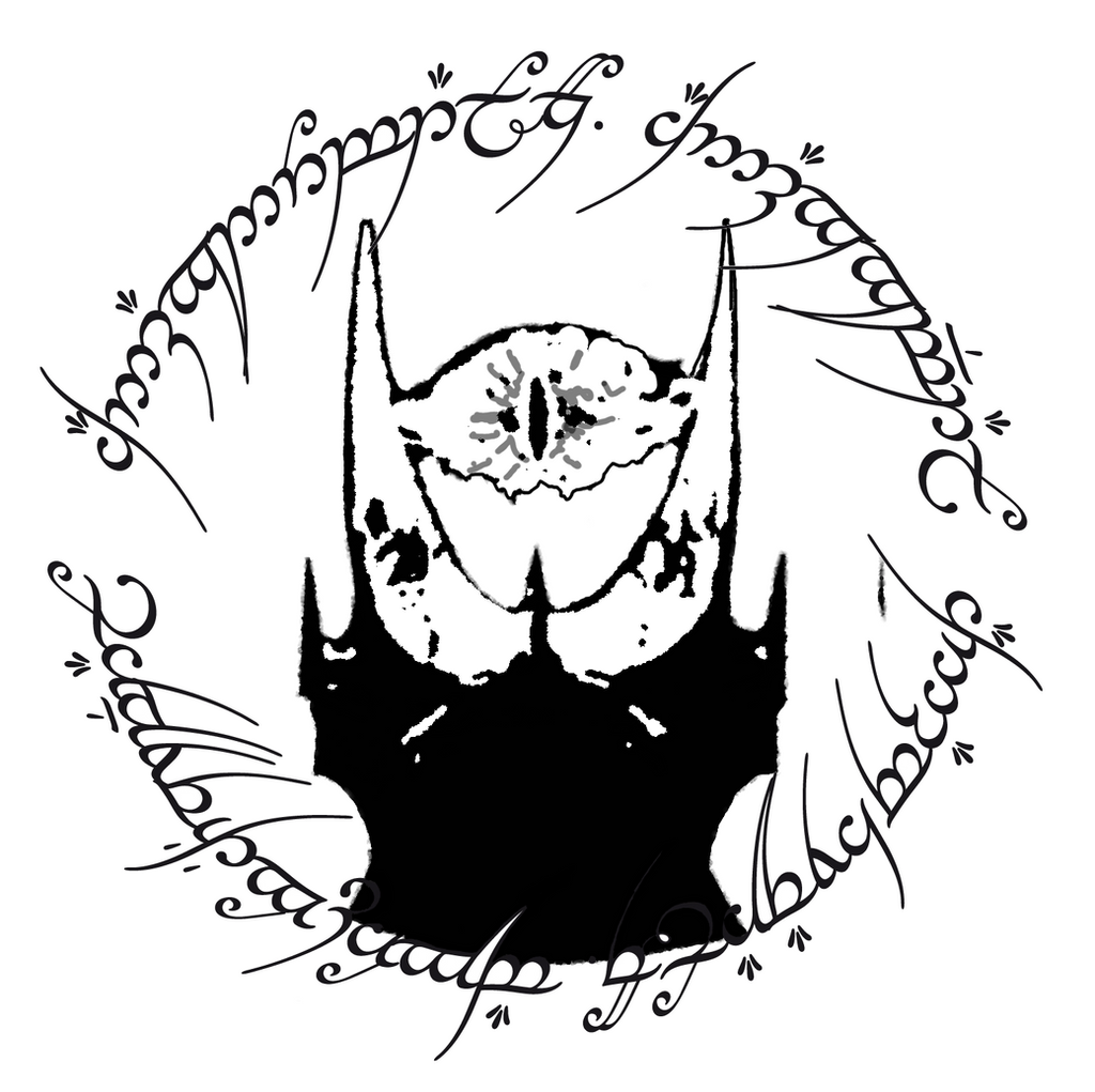 Sauron tatoo design by dead01