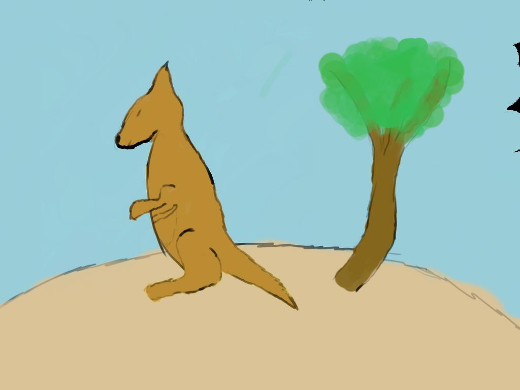 Rough Kangaroo Sketch By Ijtomboy On Deviantart
