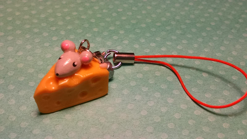 Mouse in Cheese Charm by solazora