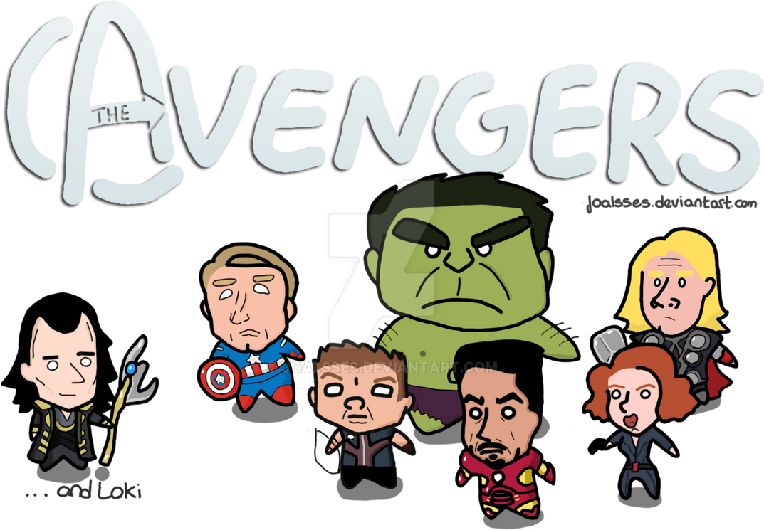 The Avengers chibi by Joalsses
