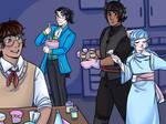 [PMD:BtS] Boys' Baking Night!