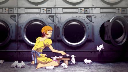 Bunny Laundry Tea Time