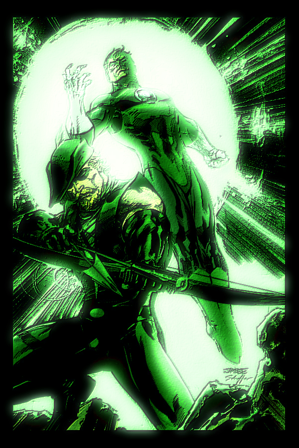 Green Lantern And Green Arrow by Thrumm
