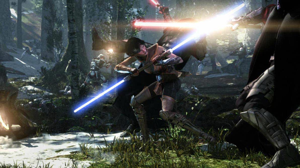 Jedi Warrior Woman N Battle by Thrumm