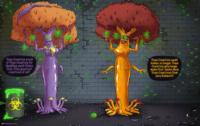 Mystery Tree Creatures incorporated