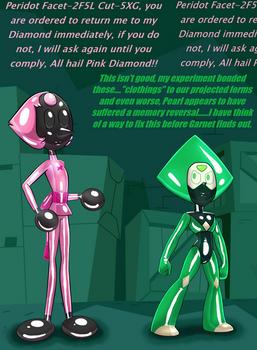 Peridot and Pink Diamonds Drone Pearl