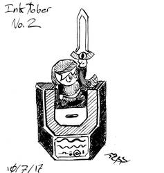Inktober: Link and the Master-Honedge, version 1 by Feanor-the-Dragon