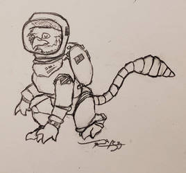 Gryphon in Spacesuit by Feanor-the-Dragon