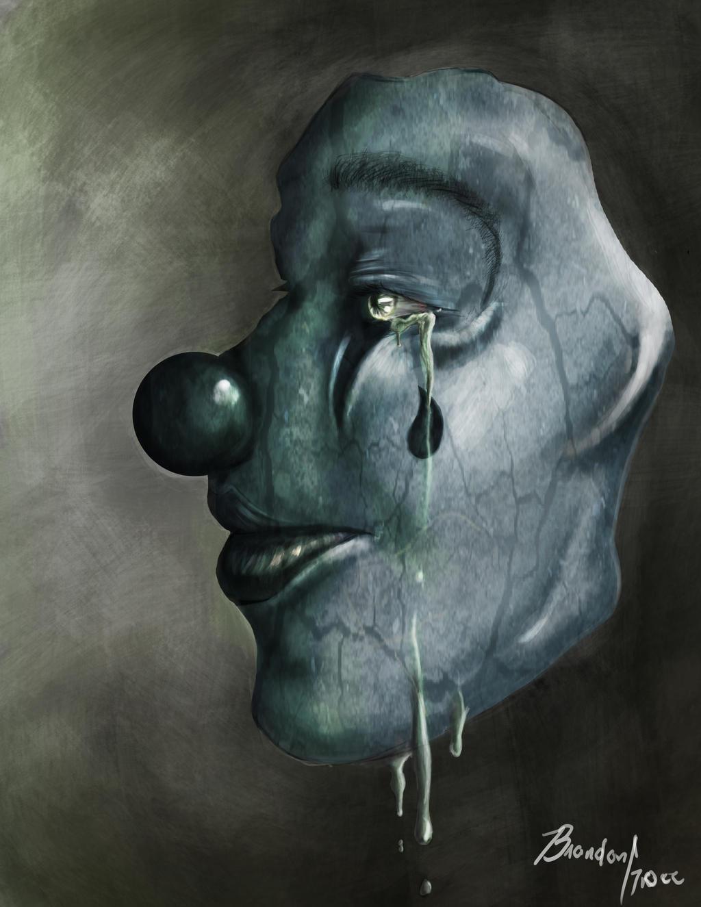 sad clown by brandongroce123 on deviantart