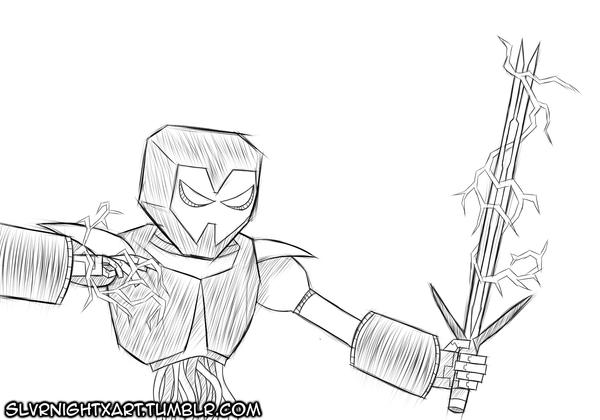 Quick Sketch: Sintro by SlvrNightX
