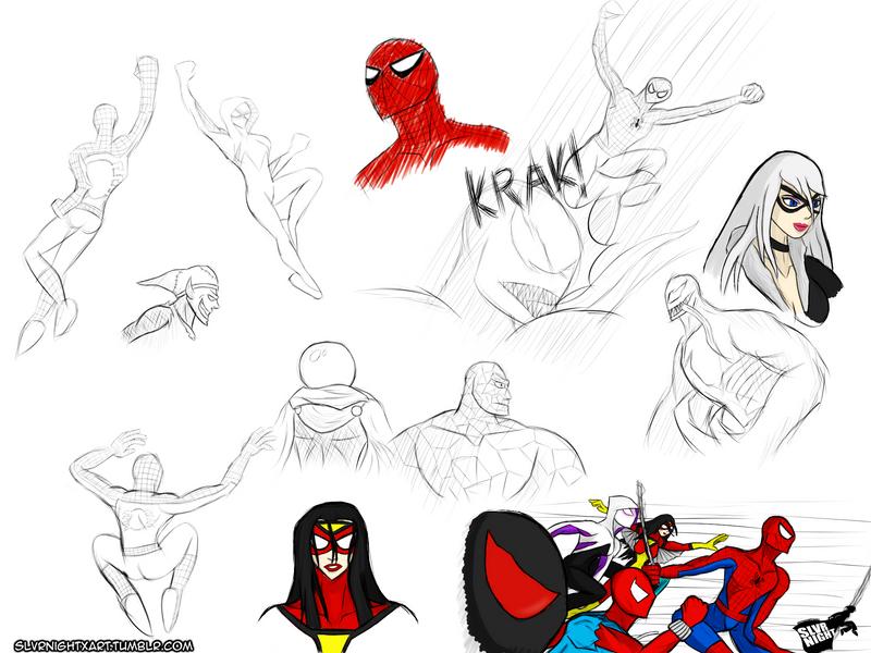 Spider-Man Drawing Practice by SlvrNightX