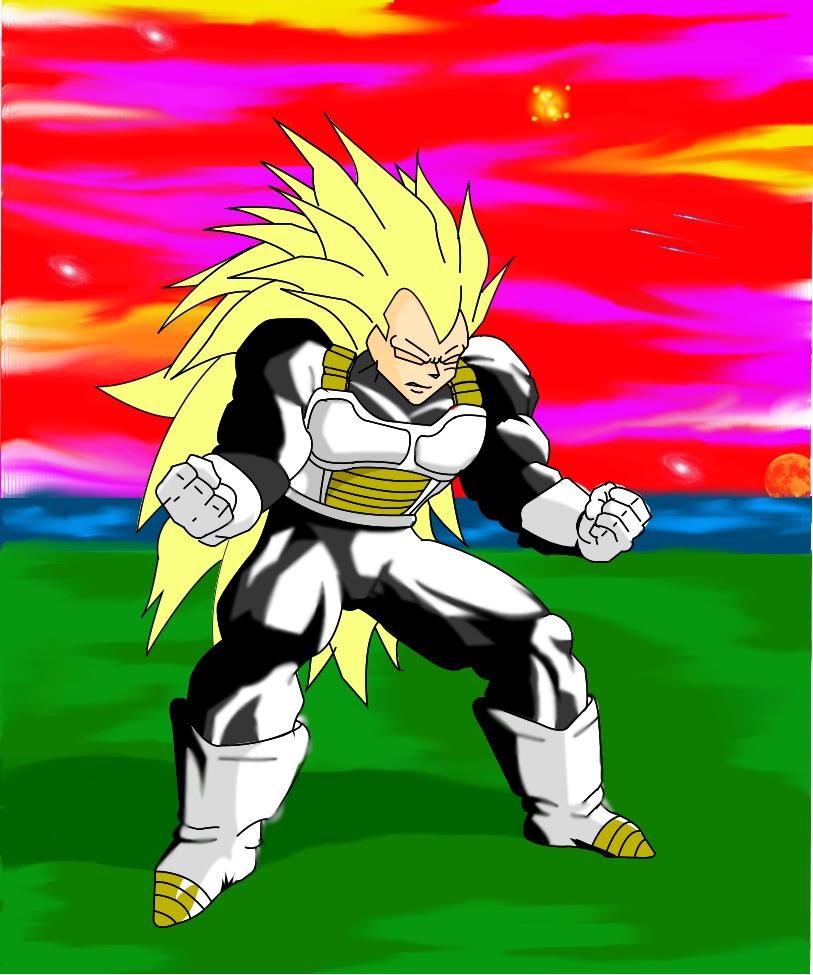 Super Saiyan3 Vegeta:Colored by StormShadowDJ on DeviantArt
