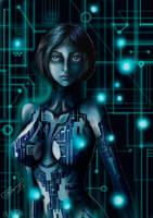 Cortana art (Halo) by FairyFaily