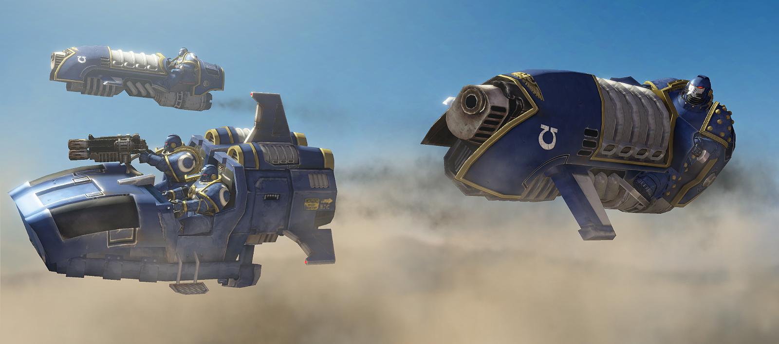 GMod/SFM: Horus Heresy Land Speeder and Jetbike by Joazzz2