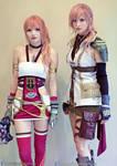 Lightning and Serah Final Fantasy 13 Cosplays