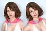 Final Fantasy 10-2 Yuna Cosplay makeup test