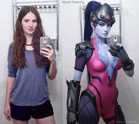 Widowmaker Cosplay Before ~ After by AlysonTabbitha