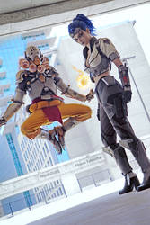 Zenyatta and Talon Widowmaker  OverWatch Cosplays