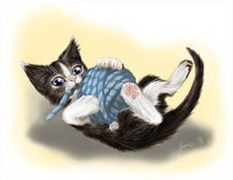 Christmas Kitten by Jianre-M